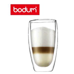 【bodum・二重保冷保温グラス】(460cc)【2ヶ入】 ボダム パヴィーナ ダブルウォールグラスセット (2pcs) 460cc 4560-10 (6-2061-0204)|kyoeinet
