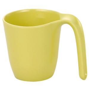 メラミン製・プラスチック製 信濃化学・SHINCA 介護・自助食器 カラーシリーズ UDマグカップ 大(80×115×87 250ml) きはだ [971-kihada]