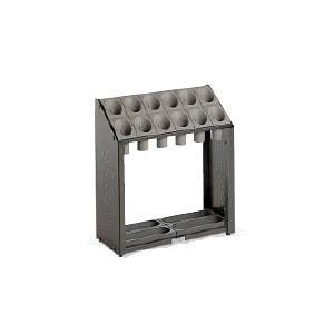 送料無料 施設用品・傘立て 独立収納・傾斜形状 組立式 12本立 幅49×奥行22×高さ54cm テラモト オブリーク アーバンB12 (12本立)|kyoeinet