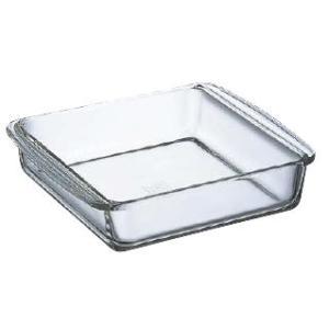 製菓用品|ケーキ型|耐熱ガラス|電子レンジ・オーブンOK 大 iwaki(イワキ) ケーキ焼皿(角型)KBT222 (6-0958-2001)|kyoeinet