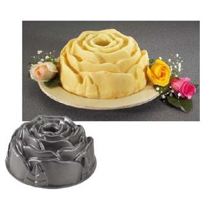 製菓用品・ケーキ型 お菓子作り・道具 彫刻のようなケーキができます ノルディックウェアー ローズパンNo.54148 (6-0973-0301)|kyoeinet
