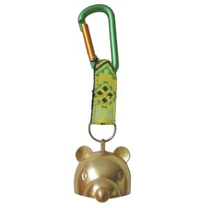 熊よけ鈴 真鍮製 消音 小熊ちゃんベル(小) 山歩き用 ハイキング 登山 山菜採り AY-25|kyoeisports2