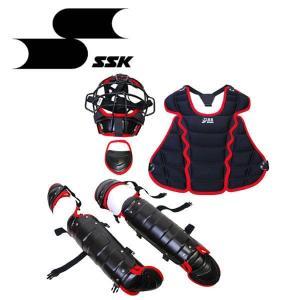 SSK 少年 軟式 キャッチャー防具 4点セット 専用バッグ付 CGSET18JNC|kyoeisports2
