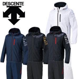 デサント ムーブスポーツ ウィンドブレーカー 裏起毛 フーデッドジャケット パンツ 上下セット DAT3656-DAT3655P ウェア トレーニング|kyoeisports2