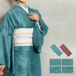 新品仕立て上がり女性用江戸小紋単衣着物 サイズ (約/cm): M: 身丈:160 袖丈:49 裄丈...