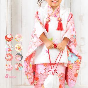 (着物セット CCM 古典) 七五三 着物 3歳 8colors 販売 フルセット 753 女の子 ...