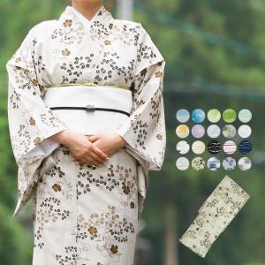 【レディース 洗える小紋駒絽単衣着物】  洗えるポリエステルの小紋駒絽の単衣着物です。 ポリエステル...
