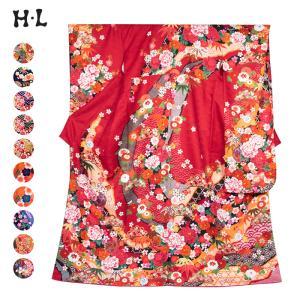 《ブランド 『H・L(アッシュ・エル) 』 絵羽模様振袖着物》  ・成人式や大切な記念日を彩る、人気...