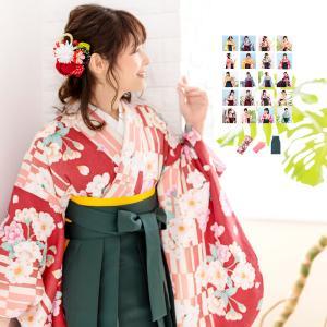 (袴3点セット 華やか B) 袴セット 卒業式 袴 セット 女性 20colors はかま 振袖 レトロモダン 着物 コスプレ 小学生 二尺袖着物 レディース