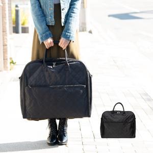 (着物バッグ キルティング)着物バッグ スーツケース 和装バッグ 着物収納バッグ  レディース 黒無地(zr)|京越卸屋 PayPayモール店