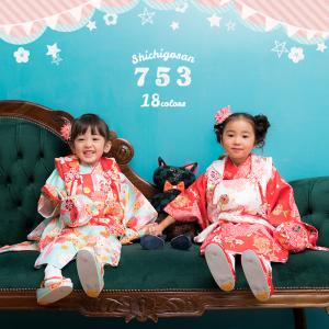 (着物セット 華やか和柄)七五三 着物 3歳 女の子 16color 2017新作 9点 被布セット 三歳 被布コート 髪飾り 被布 お祝い 衣装 簡単着付け (zr)|kyoetsuorosiya