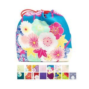 小紋柄巾着 ■商品説明: 花柄や古典柄など、かわいい小紋の生地を使用した巾着です。 和服でのお出かけ...