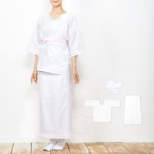 (女肌着3点セット)女性用和装下着3点セット(肌襦袢/裾よけ/足袋) レース 綿 和装肌着 着物 浴衣 和装下着 裾除け すそよけ 着付けセット(zr)