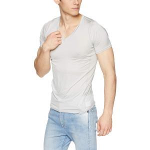[シースリーフィット] Tシャツ クーリングVネックハーフスリーブ メンズ グレー 日本 S (日本サイズS相当)|kyokusenbi