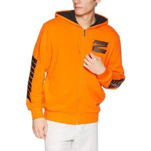 [プーマ] トレーニングウェア Rebel フーデッドスウェットジャケット [メンズ] 844102 オレンジ ポプシクル (45) 日本 S (日本サイズS相当)|kyokusenbi