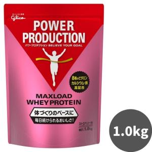 グリコ プロテイン パワープロダクション マックスロード ホエイプロテイン ストロベリー味 1kg|kyomo-store