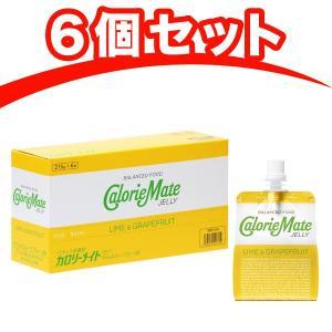 大塚製薬 カロリーメイトゼリー ライム&グレープフルーツ味 215g×6個 栄養補助ゼリー|kyomo-store