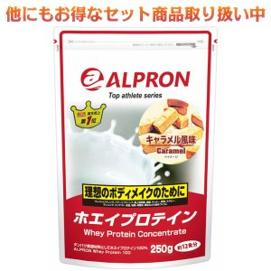 アルプロン プロテイン WPCホエイプロテイン100 キャラメル風味 250g 約12食|kyomo-store