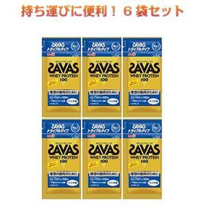 ザバス プロテイン SAVAS ホエイプロテイン100 バニラ味 トライアルタイプ 10.5gx6袋 明治|kyomo-store