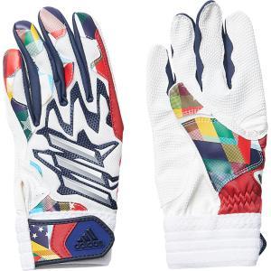 adidas(アディダス) 5T バッティンググラブJr FTK84 WHT/COLNVY