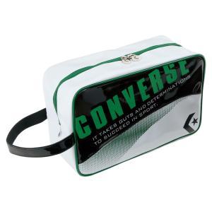 CONVERSE(コンバース) シューズケース C1508097 ブラック/グリーン kyonen-ya