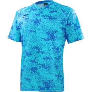 アンブロ UMBRO UK CAMO プラクティスS/S Tシャツ メンズ UBS7747 ターコイ...