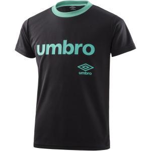 UMBRO(アンブロ) ワードロゴ S/Sシャツ ジュニア プラクティスシャツ プラシャツ UMJNJA60 ブラック kyonen-ya
