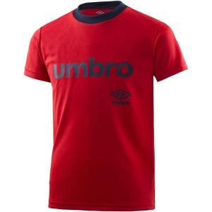 UMBRO(アンブロ) ワードロゴ S/Sシャツ ジュニア プラクティスシャツ プラシャツ UMJNJA60 SRED kyonen-ya