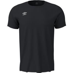 UMBRO(アンブロ) ワンポイントS/Sシャツ メンズ プラクティスシャツ プラシャツ UMUNJA65 ブラック kyonen-ya