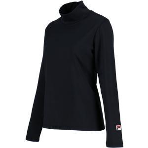 FILA(フィラ) (レディース テニスウェア) ロングスリーブシャツ VL8000 ブラック|kyonen-ya
