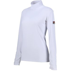 FILA(フィラ) ロングスリーブシャツ レディース  テニスウェア VL8006 ホワイト|kyonen-ya