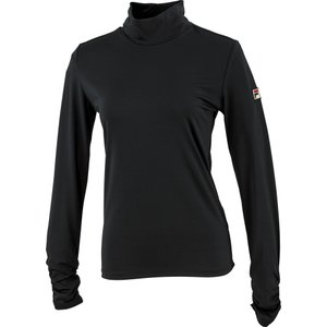 FILA(フィラ) ロングスリーブシャツ レディース  テニスウェア VL8006 ブラック|kyonen-ya