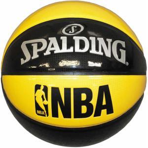 スポルディング SPALDING アンダーグラス NBA公認球 バスケットボール7号球 イエロー×ブ...