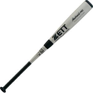 ZETT(ゼット) 一般・中学軟式野球用 金属製バット アンドロイドMG 82cm BAT32982 シルバー|kyonen-ya