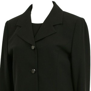 喪服 礼服 ブラックフォーマル スリーピース 3点セット 035(9号)|kyonenya