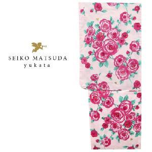浴衣  seiko matsuda  4579/仕立上り 女性 浴衣/レディース 浴衣 ブランド ピンク|kyonenya