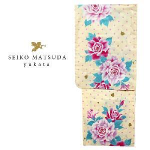 ブランド 浴衣   4580 seiko matsuda 仕立上り 女性 浴衣 レディース 浴衣 クリーム|kyonenya