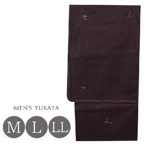 浴衣 メンズ 男物  ゆかた  M・L・LL 4961 男性 浴衣  茶 kyonenya