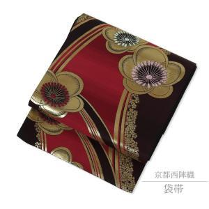 袋帯 振袖 訪問着 礼装 帯 仕立て上り 西陣織 正絹 70054 kyonenya