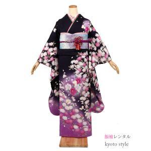 振袖 レンタル 成人式 セット 貸衣装 貸衣裳 結婚式 卒業式 結納 きもの 振袖 着物 レンタル フルレンタル 紫 パープル かわいい 安い 72005 kyonenya