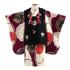 【七五三】3歳女の子 着物フルセットレンタル  必要なものがすべて揃った三歳用の被布セットです。 着...