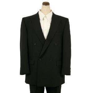 紳士 ブラックフォーマルスーツ 夏 ダブル メンズ 喪服 礼服 冠婚葬祭 スーツ サマーフォーマル 002|kyonenya