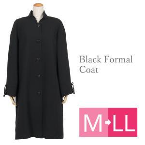 フォーマルコート 黒 ブラックフォーマル コート 冠婚葬祭 喪服 コート 005 M・L・LL kyonenya