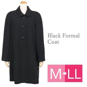 フォーマルコート 黒 ブラックフォーマル コート 冠婚葬祭 喪服 コート 006 M L LL kyonenya