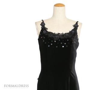 フォーマルドレス ベルベット パーティー 発表会 演奏会 ドレス 黒  023  9号|kyonenya
