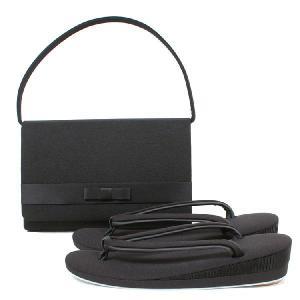 喪服用 草履バッグセット 黒 M・L  喪服 葬式 和装 草履 バッグセット ブラックフォーマル バッグ z6322 kyonenya