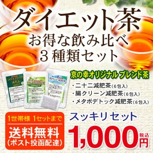ダイエット お茶 減肥茶3種類のお試しセット スッキリセット セール 【1家族様1個まで】