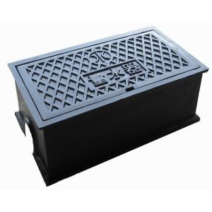 量水器ボックス 水道 メーターボックス 13-20mm用 T6 耐荷重 6t 中荷重用 鋳鉄 水道管 13-20mm用 底板無し KDD-5|kyoritsuic