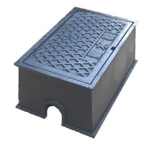 量水器ボックス 水道 メーターボックス 13mm用 T6 耐荷重 6t 中荷重用 鋳鉄 水道管 13mm用 底板無し KDC-2|kyoritsuic