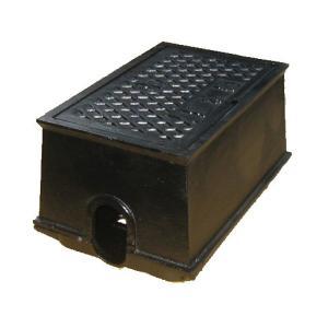 量水器ボックス 水道 メーターボックス 13mm用 底板付き T6 耐荷重 6t 中荷重用 鋳鉄 水道管 13mm用 KDC-2S|kyoritsuic